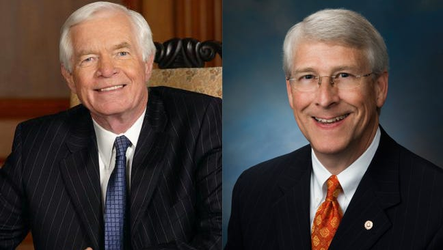 Combination photo of US Senators from Mississippi Thad Cochran and Roger Wicker.