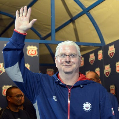 Hall of Fame swim coach Bob Bowman is perhaps the most