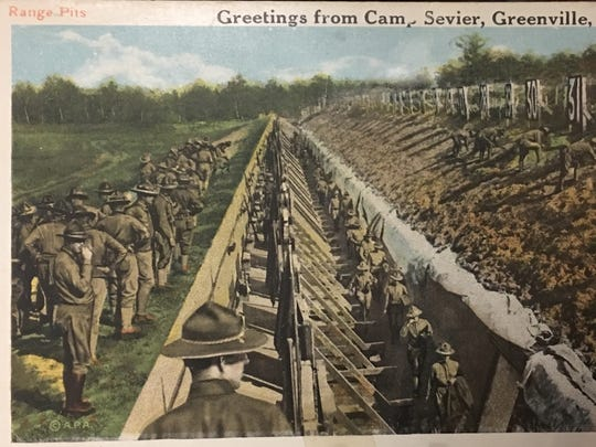 A postcard offers greetings from Greenville's Camp