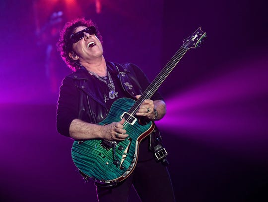 Neal Schon of Journey performs on May 3, 2017, in Las