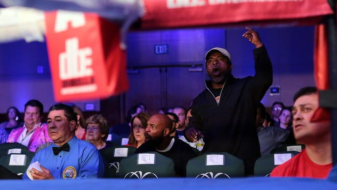 Fans enjoy a night of boxing in the Coachella Valley.