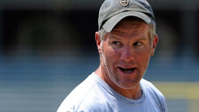 Former NFL quarterback Brett Favre