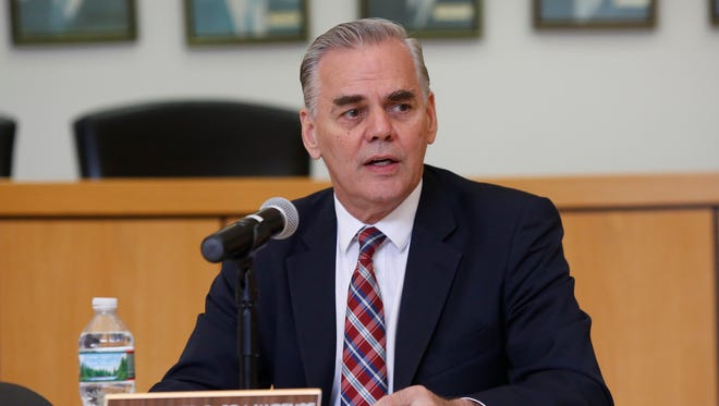 Ramapo Supervisor Christopher St. Lawrence is pictured at a meeting at Ramapo Town Hall in Airmont in July 2016.