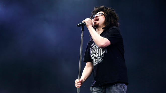 Adam Duritz of the Counting Crows performs at the Isle of Wight Festival on June 12, 2015, in England.