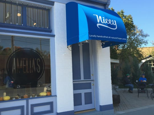 Amelia's new retail location, 659 Virginia Ave. at Holy Rosary/Fletcher Place, sits next door to a recently opened walk-up window serving Nicey Treat ice pops. The Bluebeard courtyard is tucked in a few steps away.