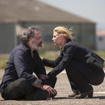 "Mandy Patinkin and Claire Danes in ""Homeland."" The series returns for its fifth season Oct. 4. It jumps ahead two years with fresh story lines."