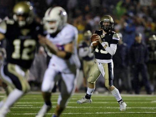 Appleton North's Carter Robinson is a quarterback who