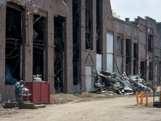The buildings of the former Mansfield Foundry were demolished in 2014.