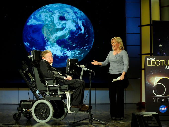 Dr. Stephen Hawking, professor of mathematics at the