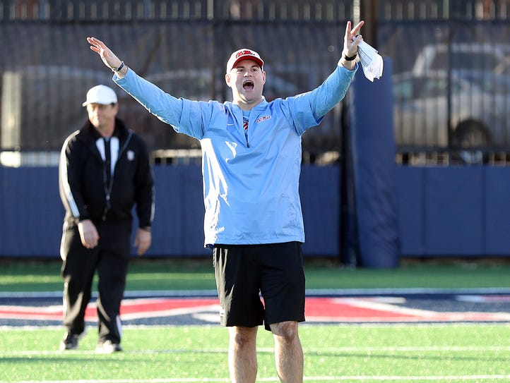 Receivers coach Jacob Peeler helped Ole Miss land two