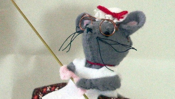 """""""Old Mother Hubbard"""" Cathedral Mouse. The story of the Cathedral Mice will be told at the Fond du Lac Public Library."""