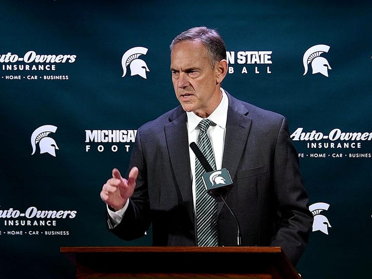 Michigan State head football coach Mark Dantonio