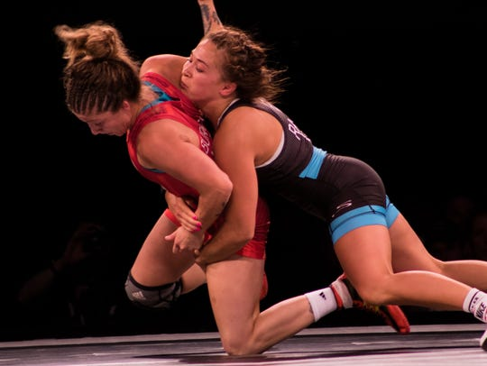 Alli Ragan, a member of the Hawkeye Wrestling Club,