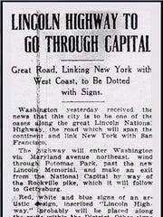 A push to include Washington, D.C., in the first transcontinental highway ultimately got Delaware included.