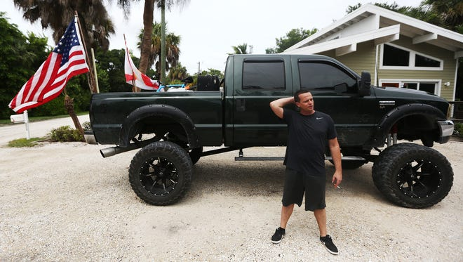 """""""I'm going to come back as soon as I can,"""" says Sanibel Island resident Anthony Smith on leaving the island Saturday in advance of Hurricane Irma."""
