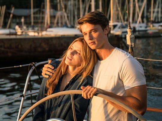 "Bella Thorne and Patrick Schwarzenegger face the dawn in ""Midnight Sun."""