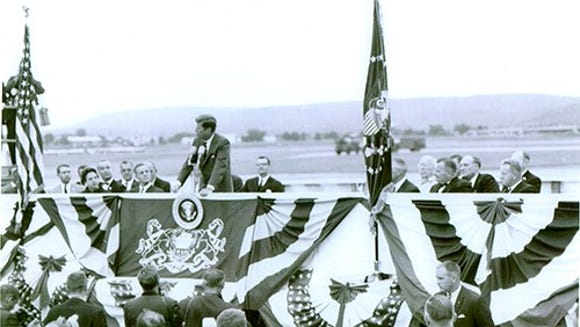 Candidate John F. Kennedy visited Harrisburg International
