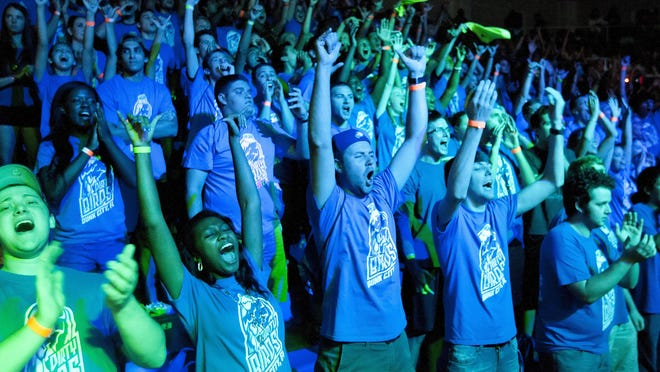 Thousands of FGCU fans turned out Wednesday for the Eagle Revolution pep rally at Alico Arena.