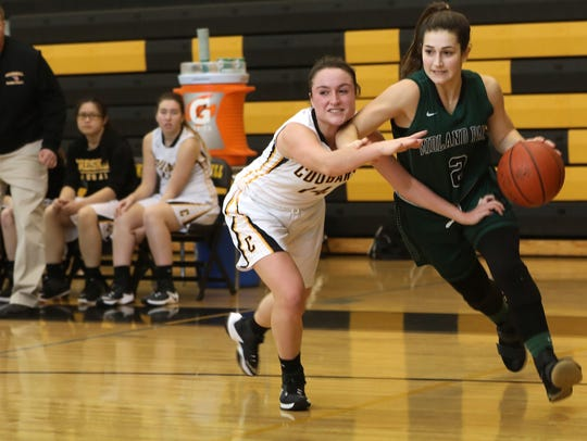 Senior guard Chloe Kasbarian (2) is one of the leading scorers for Midland Park this season.