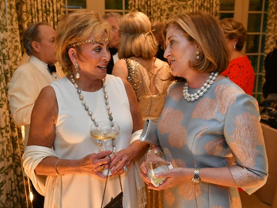 Anne Russell and Kathy Rolfe at the Swan Ball Patron