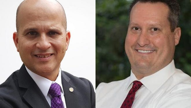 David Santiago, left, and Will Roberts, right, are candidates for Volusia County tax collector.
