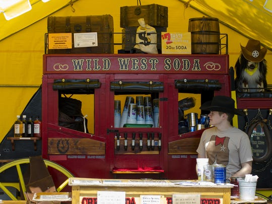 The Wild West Soda vendor on the south portion of the main drag of the Indiana State Fair.