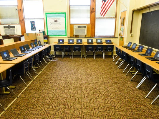 New Chromebooks await students at R.D. Wood Elementary
