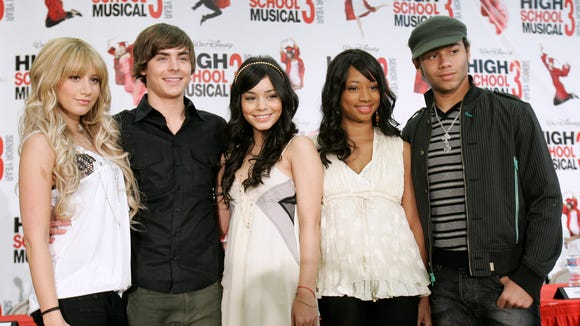 Cast members, from left, Ashley Tisdale, Zac Efron,