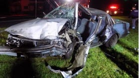 Car crash in Waynesboro that sent two to the hospital early morning of Saturday, Sept. 9.