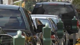 Parking meters in downtown Jackson