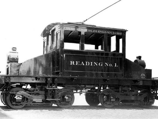 An electric locomotive car which once served the Cape May Sand Company.