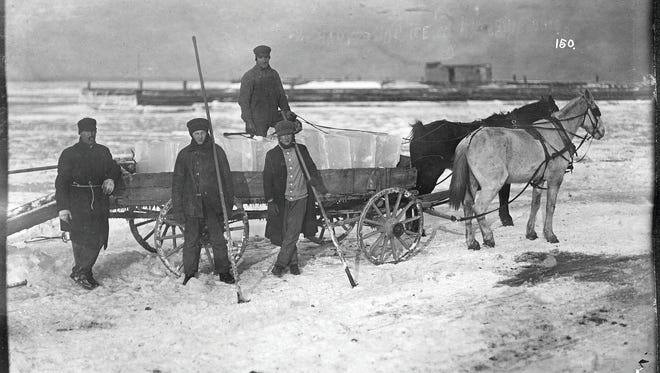 This historic photo shows Lake Erie ice harvesting and is from the Rutherford B. Hayes Presidential Library and Museums' Charles E. Frohman Collection. The Hayes museum will be hosting an exhibit dedicated to ice harvesting.