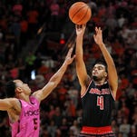 Scenes from Louisville basketball at Virginia Tech
