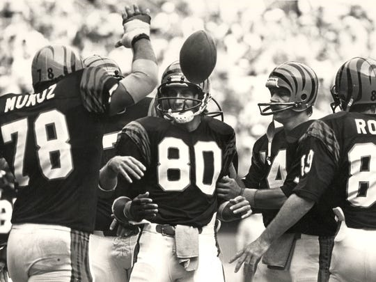 Enquirer file Kenny Anderson led a team that included Anthony Munoz, Cris Collinsworth (80) and Dan Ross to the Super Bowl in 1981. Cincinnati Bengals, 1981 season, the Super Bowl season Anthony Munoz (78), Chris Collinsworth (80), Ken Anderson (14), Dan Ross (89) Scanned 6/19/2017
