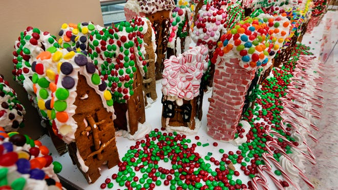 Jon Lovitch's gingerbread creations are on display at the New York Hall of Science in Queens until Jan. 11.