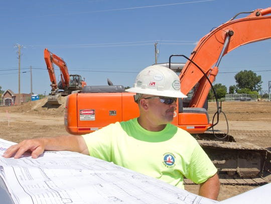 Brandon Kennedy, president of Kennedy Excavating, oversees