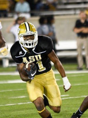 Alabama State freshman George Golden has 119 yards rushing, 44 yards receiving and a touchdown this season.