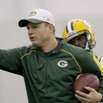 Luke Getsy, 32, is in charge of Green Bay's wide receivers this season.