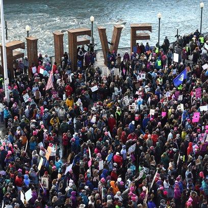Thousands participate during the Million Women's March