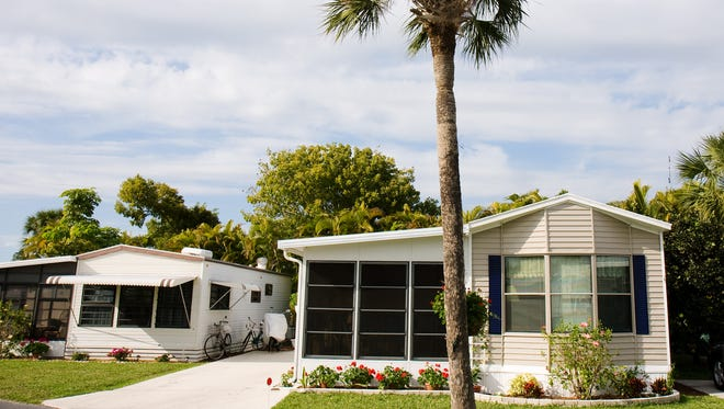 STOCK IMAGE: Mobile home retirement community in Florida