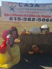 Snow White makes an entrance.