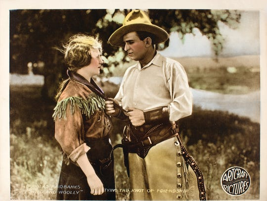 """A lobby card of the 1917 silent film """"Wild and Woolly"""""""