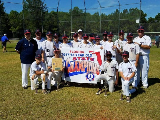 The Tallahassee-Leon Babe Ruth 13U team won a state