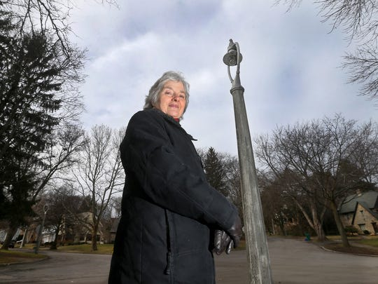 Deborah Hall is the coordinator of the Bel-Air neighborhood association in Brighton and has tried to get broken and inconsistent historic street lights fixed.
