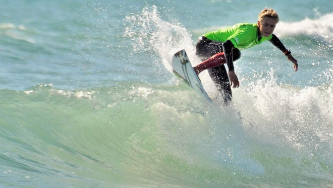 Tommy Coleman, 15, is a local surfer who will be taking part in the inaugural Saltwater Sweethearts Pro/Am surf festival this Saturday.