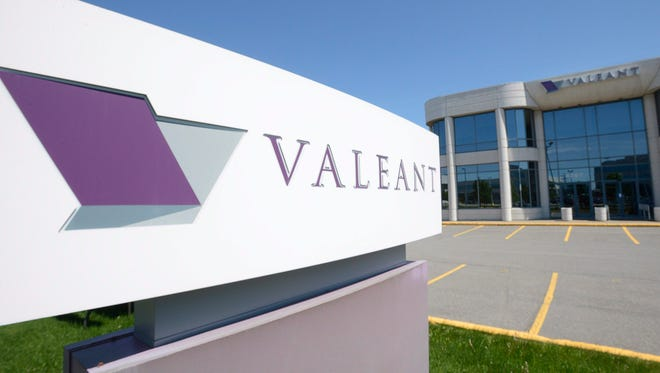 File photo taken in 2013 shows the headquarters and logo of Valeant Pharmaceuticals International in Montreal.