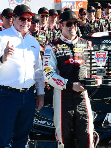 Austin Dillon and grandfather/team owner Richard Childress,