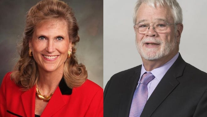 Perry L. Buck, left, and Adrian 'Buzz' Sweeney are candidates for Colorado House District 49.