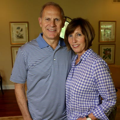 Michigan coach John Beilein with Kathleen Beilein,