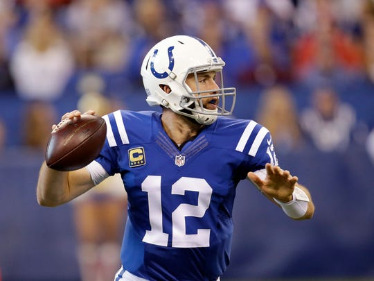 Andrew Luck, who sat out the Colts' last game with